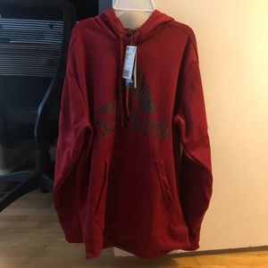NWT Adidas Men's Team Issue Red Pullover Hoodie
